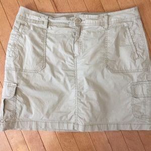 St. John's Bay Size 14 Tan Khaki Skort